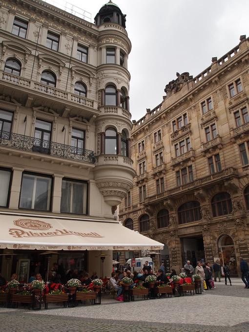 プラハ城ちかくのカフェ