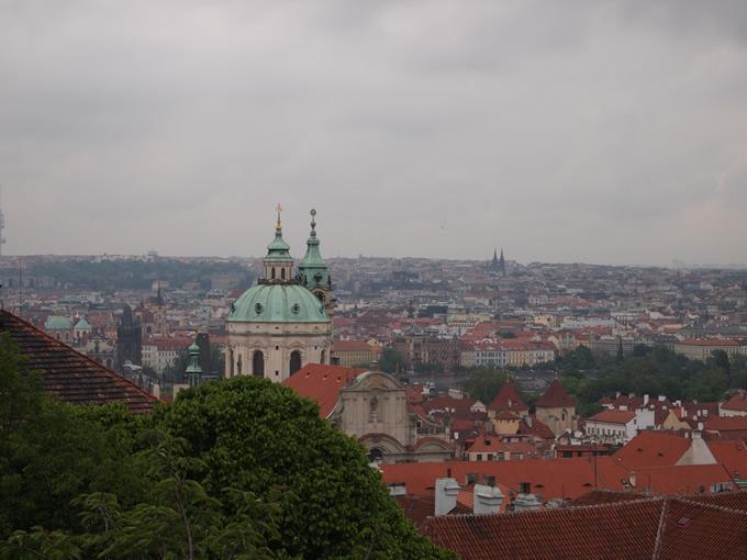 プラハを一望する
